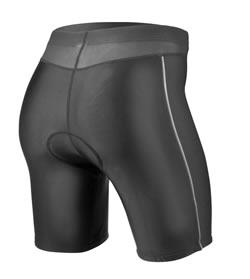 women's black triathlon shorts