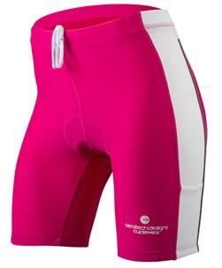 pink triathlon bike short