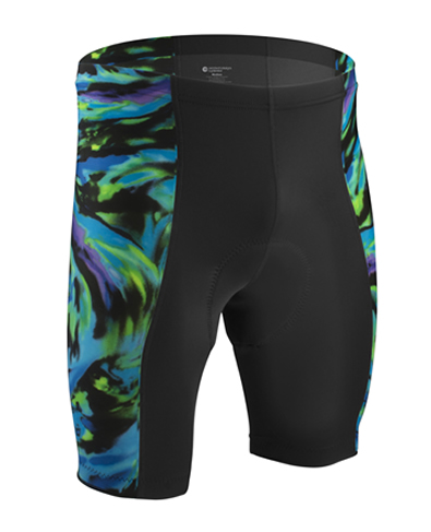 mens blue wave shorts