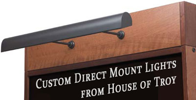 Custom Direct Mount Lights from House of Troy