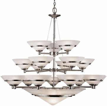 Chandelier using Halogen light bulbs