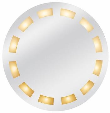 Round vanity mirror built in light
