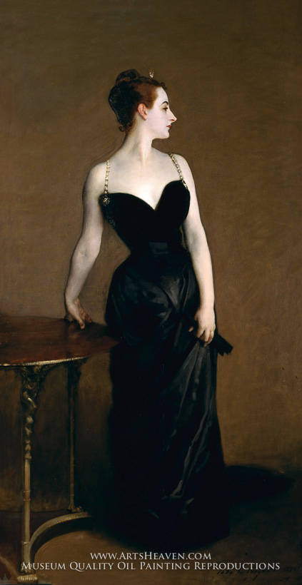 Upon By The Public When Painting Was Released At An Exhibition Ms Gautreau Retired From Society While Sargent Repainted Portions Of Dress