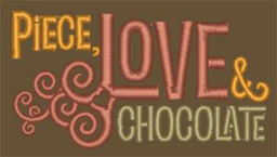 Piece Love and Chocolate Logo Embroidery