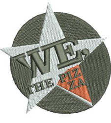 We the Pizza Logo Embroidery