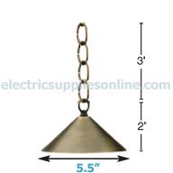 Advantage Light Source Flores 11B Pendant Light Dimensions