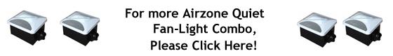 Air Zone Exhaust Ventilation Very Quiet Fan Light Combo Title 24 Compliant