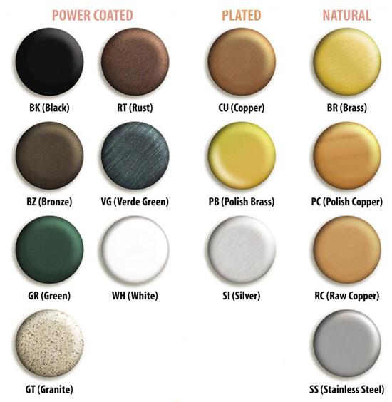 Lighting Supplies Online: Corona Landscape Lighting Color Chart