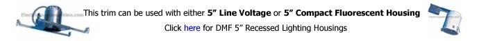 DMF 5 inch Recessed Housing