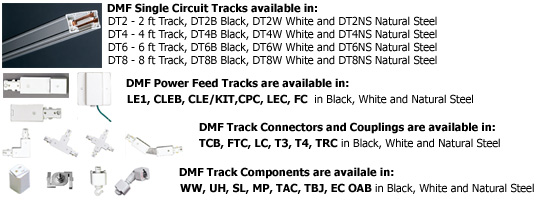 DMF Track Lighting Tracks and Connectors