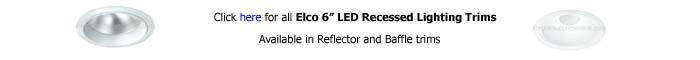 Elco 6 inch Recessed Trim