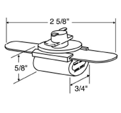 elco track lighting ep2102w double wedge base socket 11w
