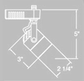 elco track lighting et528w cylinder 50w 12v mr16 lamp low voltage