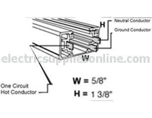 Elco track lighting ep008b 8 ft single circuit track black single circuit spec drawing mozeypictures Image collections
