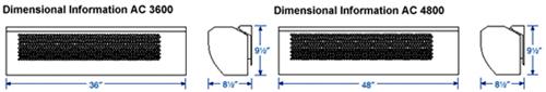 Fantech Air Curtain dimension