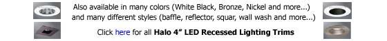 Halo 4 inch LED Recessed Lighting Trim