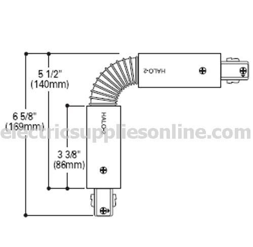 halo track light accessories l942mb power trac flex joiner black