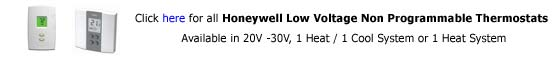 Honeywell Line Voltage Non Programmable
