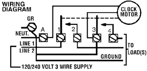 t103 wiring diagram intermatic timer t103 indoor 24 hour dial 120v 40 amp 2 poles timer time clock wiring diagram at soozxer.org
