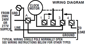 t106 wiring diagram intermatic timer t106m 24 hour dial 208v 277v 40 amp 1 pole double intermatic time clock wiring diagram at reclaimingppi.co