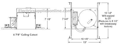 Juno ic22 6 inch line voltage ic economy recessed lighting housing cheapraybanclubmaster Gallery