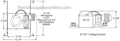 juno tc44 4 inch low voltage non ic standard recessed lighting housing