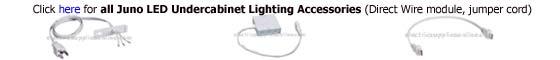 Juno LED undercabinet lighting accessories