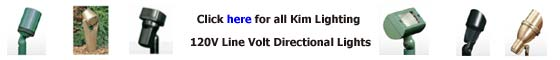 Kim Lighting 120V Directional Landscape Lighting