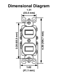 110 Volt 50   Plug Wiring Diagram besides 2 Gang Electrical Box Dimensions additionally Wiring Diagram Generac Generator moreover bination Switch Receptacle Wiring Diagram likewise Leviton Outlet Wiring Diagram. on duplex switch wiring diagram