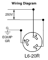 23202 leviton 2320 20 amp, 250 volt, nema l6 20r, 2p, 3w, flush mtg 20 amp plug wiring diagram at gsmx.co