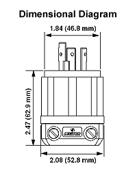 leviton 2621 30 amp 250 volt nema l6 30p 2p 3w. Black Bedroom Furniture Sets. Home Design Ideas