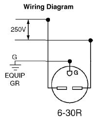 leviton 5376 30 amp 250 volt nema 6 30r 2p 3w surface. Black Bedroom Furniture Sets. Home Design Ideas