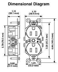 5662 I1 leviton 5662 i 15 amp, 250 volt, nema 6 15r, 2p, 3w, narrow body nema 6 15r wiring diagram at edmiracle.co