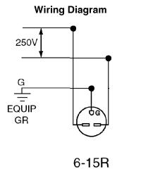 Leviton 5662-I 15 Amp, 250 Volt, NEMA 6-15R, 2P, 3W, Narrow Body ...