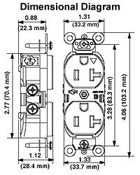6 15r wiring diagram citroen c4 1 6 hdi wiring diagram leviton 5662-ig 15 amp, 250 volt, nema 6-15r, 2p, 3w, slim ...