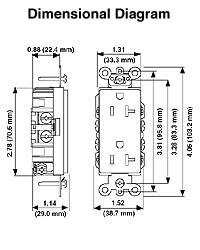 leviton 8280 w 15 amp 125 volt nema 5 15r 2p 3w. Black Bedroom Furniture Sets. Home Design Ideas