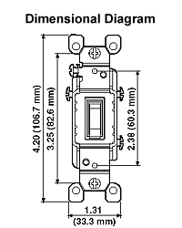 leviton 1461-lhc 15 amp, 120 volt, toggle lighted handle ... illuminated switch wiring diagram with relay