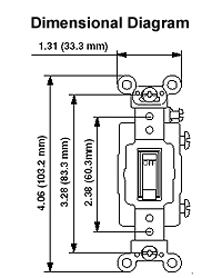 Leviton 3032 2 30 amp 120277 volt toggle double pole ac quiet dimensional drawing wiring diagram sciox Image collections