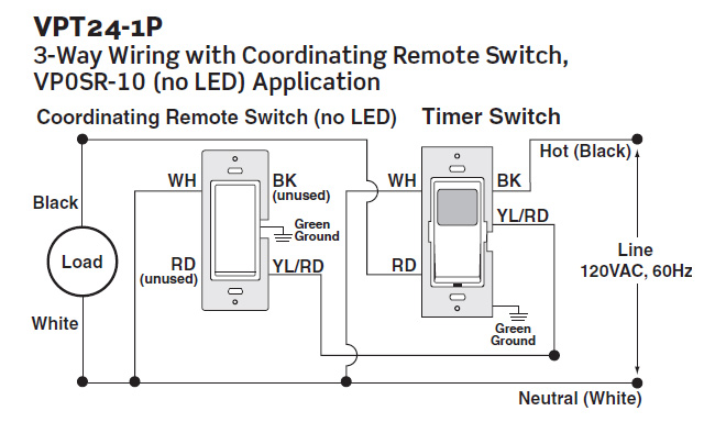 Leviton VPT24 Wiring 2 leviton vpt24 1pz vizia 24 hour timer 120vac, 60hz, 1800w leviton timer switch wiring diagram at reclaimingppi.co