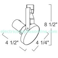Liton Track Lighting Lt824 W Front Loading Gimbal Ring