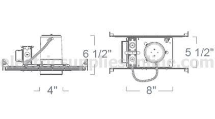 Liton Lh99p 26ud 4 Quot Compact Fluorescent New Construction