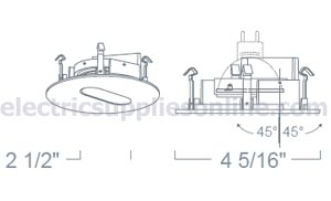 Liton lr1320b 3 low voltage slot recessed lighting trim black color aloadofball Image collections