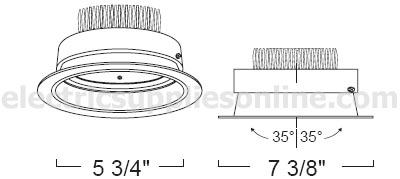 liton lrld678w retrofit 6 l e d concealed heat sink gimbal