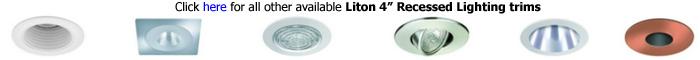 Liton 4 inch Recessed Trims