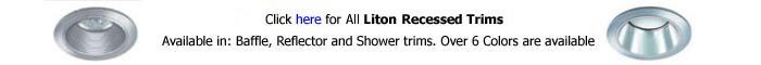 Liton 2 inch Recessed Trim