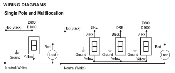 Legrand two wire rotary dimmer wiring diagram