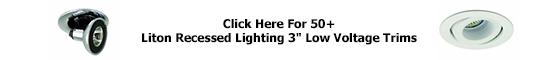 Liton 3 inch Recessed Downlight Trims