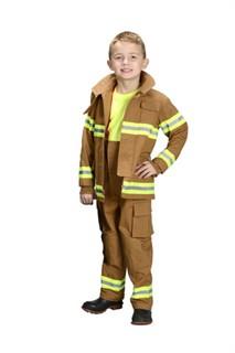 Kids Jr Firefighter Costume - Tan
