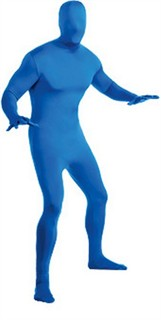 Adult 2nd Skin Blue Body Suit
