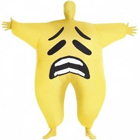 Adult Inflatable Sad Emoji Morph Suit